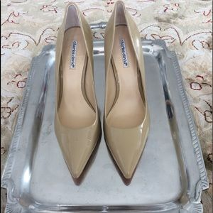 charles david Taupe Patent Leather Pumps Size 9